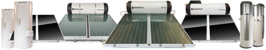 Envirosun solar water heaters and Enviroheat hot water systems